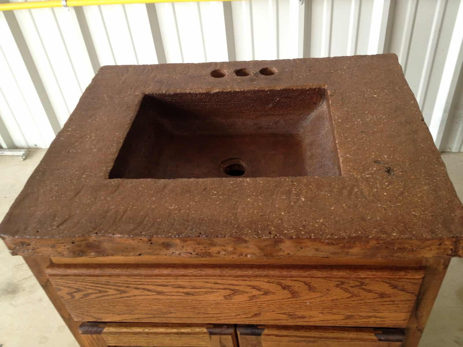 betonowe umywalki kuchenne