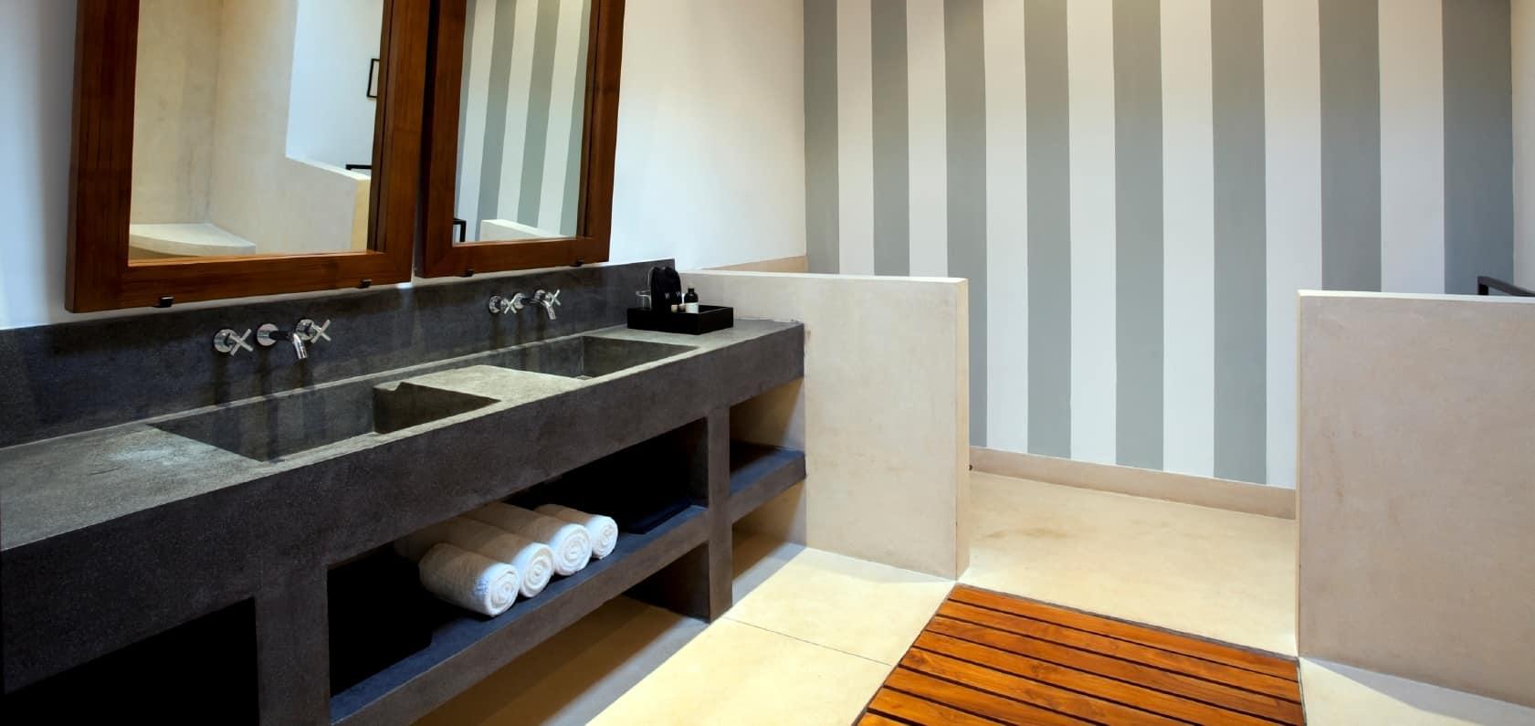 betonowe umywalki