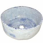 Niebieska umywalka nablatowa