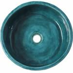 Niebieska umywalka