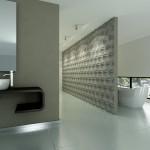 Łazienka - płytki betonowe
