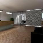 Poczekalnia - designerska ściana