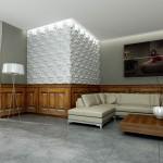 Salon - płytki betonowe