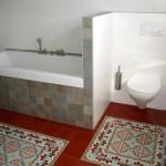 Płytki cementowe łazienka
