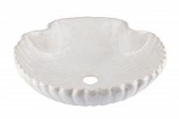 Wszemiła - biała umywalka w kształcie muszli