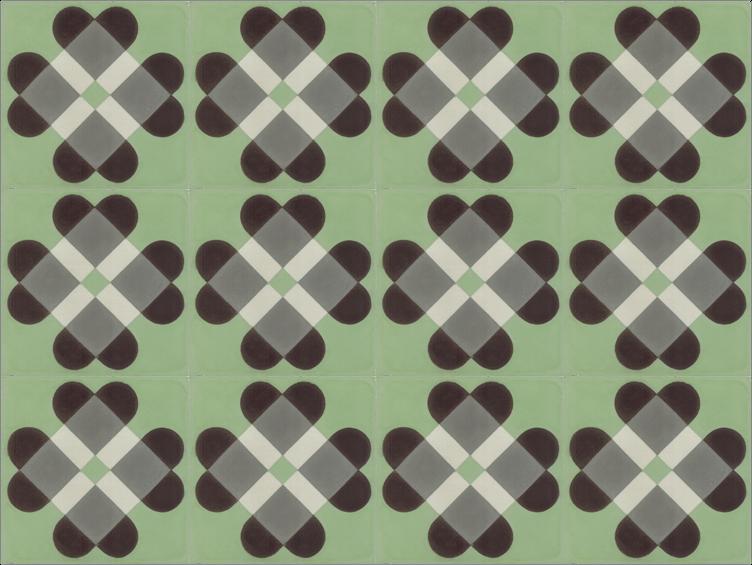 Zielone płytki cementowe